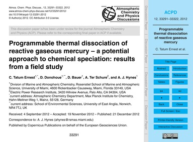 Programmable Thermal Dissociation of Rea... by Tatum Ernest, C.