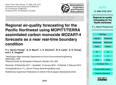 Regional Air-quality Forecasting for the... by Herron-thorpe, F. L.