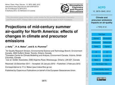 Projections of Mid-century Summer Air-qu... by Kelly, J.
