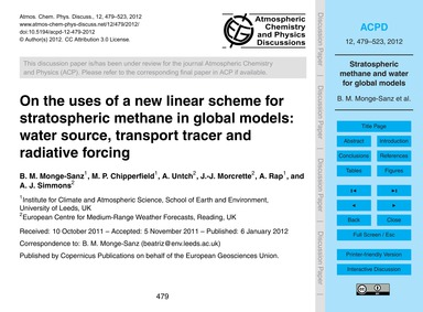 On the Uses of a New Linear Scheme for S... by Monge-sanz, B. M.