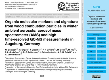 Organic Molecular Markers and Signature ... by Elsasser, M.