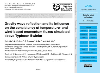 Gravity Wave Reflection and Its Influenc... by Kim, Y.-h.