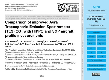 Comparison of Improved Aura Tropospheric... by Kulawik, S. S.