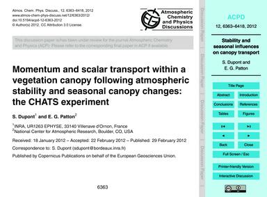 Momentum and Scalar Transport Within a V... by Dupont, S.