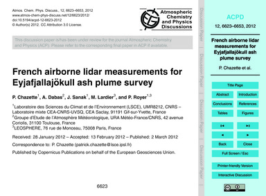 French Airborne Lidar Measurements for E... by Chazette, P.