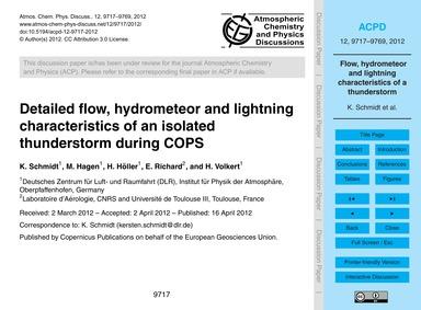 Detailed Flow, Hydrometeor and Lightning... by Schmidt, K.