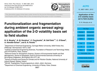 Functionalization and Fragmentation Duri... by Murphy, B. N.