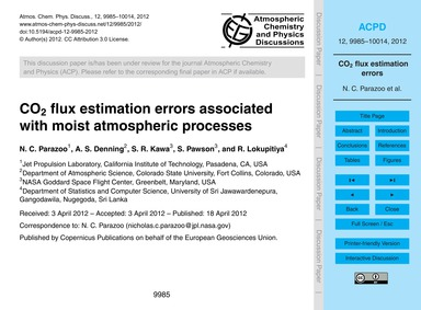 Co2 Flux Estimation Errors Associated wi... by Parazoo, N. C.