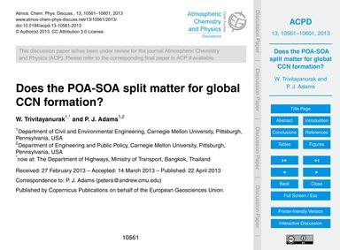 Does the Poa-soa Split Matter for Global... by Trivitayanurak, W.