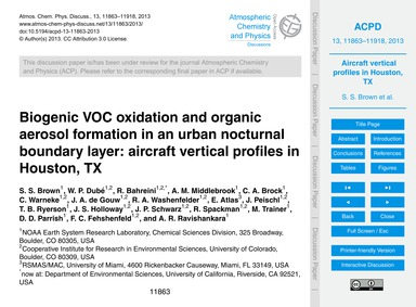 Biogenic Voc Oxidation and Organic Aeros... by Brown, S. S.