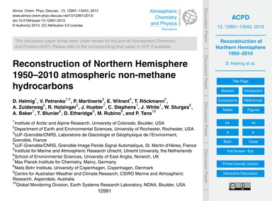 Reconstruction of Northern Hemisphere 19... by Helmig, D.