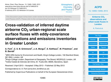 Cross-validation of Inferred Daytime Air... by Font, A.