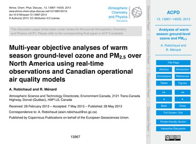 Multi-year Objective Analyses of Warm Se... by Robichaud, A.