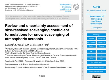 Review and Uncertainty Assessment of Siz... by Zhang, L.