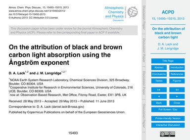 On the Attribution of Black and Brown Ca... by Lack, D. A.