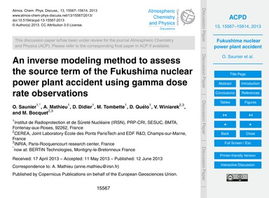 An Inverse Modeling Method to Assess the... by Saunier, O.