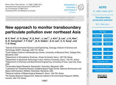New Approach to Monitor Transboundary Pa... by Park, M. E.