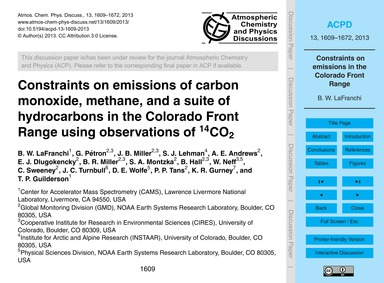 Constraints on Emissions of Carbon Monox... by Lafranchi, B. W.