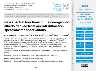 New Spectral Functions of the Near-groun... by Varotsos, C. A.