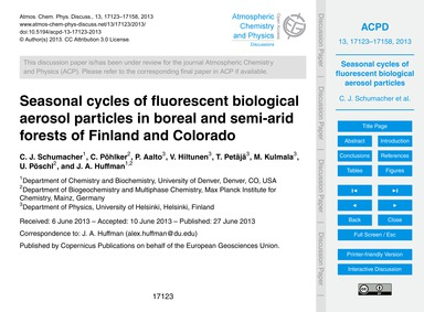 Seasonal Cycles of Fluorescent Biologica... by Schumacher, C. J.