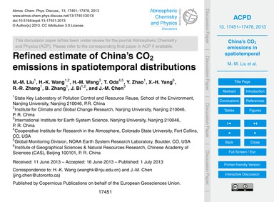 Refined Estimate of China's Co2 Emission... by Liu, M.-m.