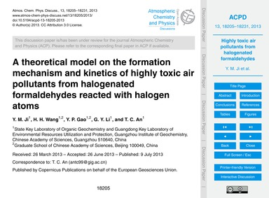 A Theoretical Model on the Formation Mec... by Ji, Y. M.