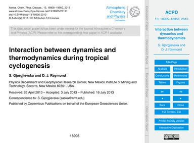 Interaction Between Dynamics and Thermod... by Gjorgjievska, S.