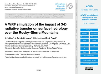 A Wrf Simulation of the Impact of 3-d Ra... by Liou, K. N.