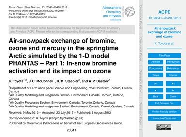 Air-snowpack Exchange of Bromine, Ozone ... by Toyota, K.