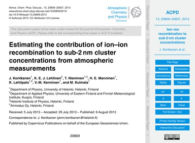 Estimating the Contribution of Ion–ion R... by Kontkanen, J.