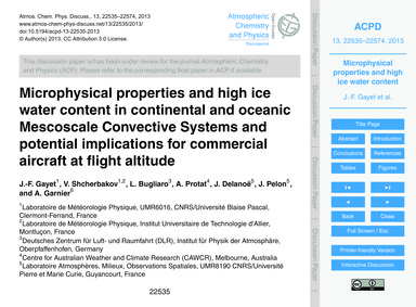 Microphysical Properties and High Ice Wa... by Gayet, J.-f.