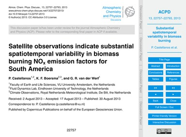 Satellite Observations Indicate Substant... by Castellanos, P.