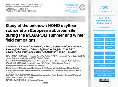 Study of the Unknown Hono Daytime Source... by Michoud, V.