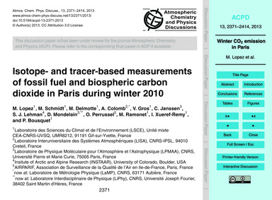 Isotope- and Tracer-based Measurements o... by Lopez, M.