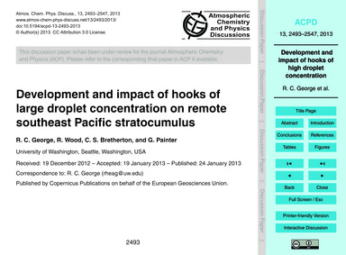 Development and Impact of Hooks of Large... by George, R. C.