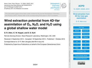 Wind Extraction Potential from 4D-var As... by Allen, D. R.