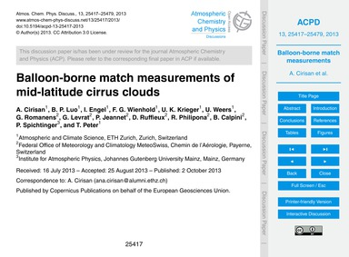 Balloon-borne Match Measurements of Mid-... by Cirisan, A.
