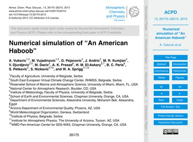 Numerical Simulation of an American Habo... by Vukovic, A.