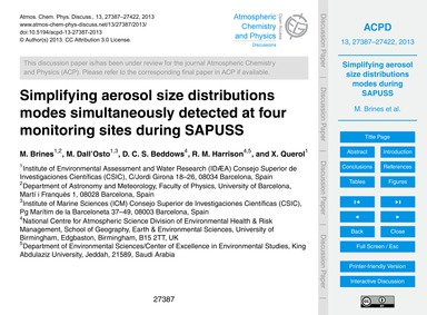 Simplifying Aerosol Size Distributions M... by Brines, M.
