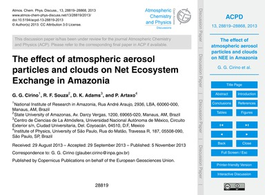 The Effect of Atmospheric Aerosol Partic... by Cirino, G. G.