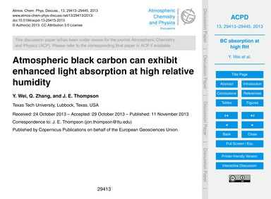 Atmospheric Black Carbon Can Exhibit Enh... by Wei, Y.