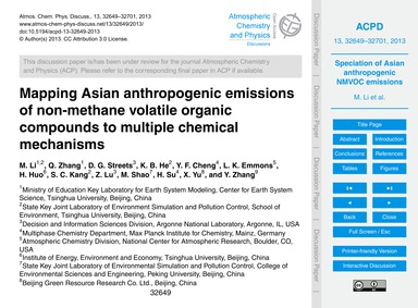 Mapping Asian Anthropogenic Emissions of... by Li, M.