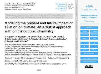 Modeling the Present and Future Impact o... by Huszar, P.