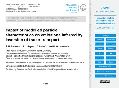 Impact of Modelled Particle Characterist... by Burrows, S. M.