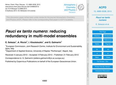 Pauci Ex Tanto Numero: Reducing Redundan... by Solazzo, E.