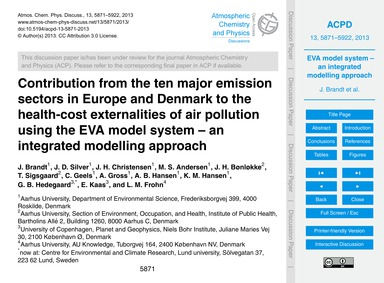 Contribution from the Ten Major Emission... by Brandt, J.