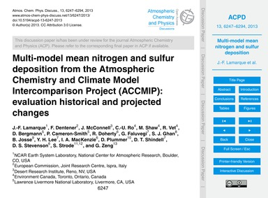 Multi-model Mean Nitrogen and Sulfur Dep... by Lamarque, J.-f.