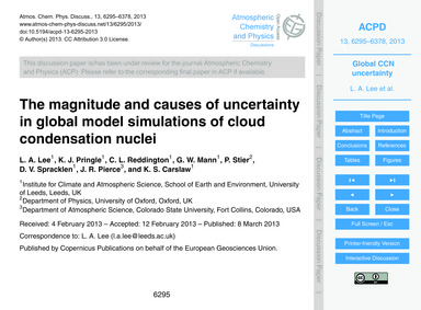 The Magnitude and Causes of Uncertainty ... by Lee, L. A.