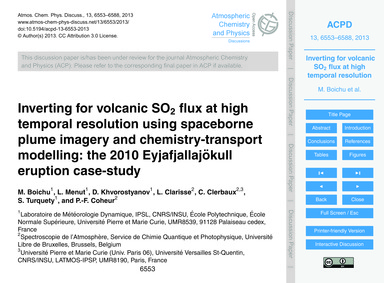 Inverting for Volcanic So2 Flux at High ... by Boichu, M.