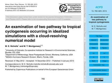 An Examination of Two Pathway to Tropica... by Nicholls, M. E.